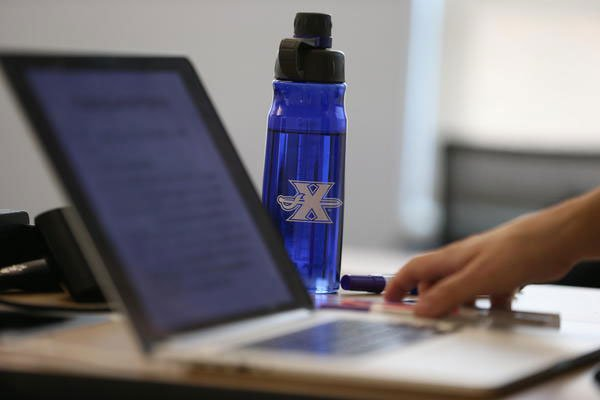 Xavier student working on online accelerated nursing coursework