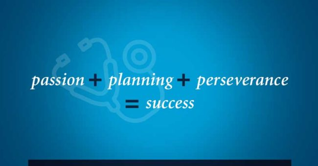 Passion + Planning + Perseverance = Success